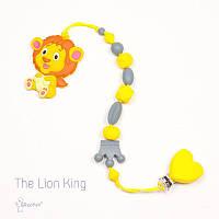 Силиконовая игрушка-грызунок на держателе The Lion King BABY MILK TEETH