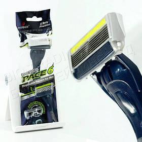 Чоловічий одноразовий станок для гоління Dorco Pace 6 Plus + тример (1 шт) D0034