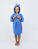 Халат детский махровый Lotus 3-4 года Винни Пух синий 380 гр/м2