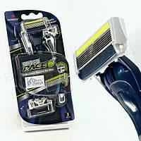 Мужской одноразовый станок для бритья Dorco Pace 6 Plus + тример (3 шт) D0035