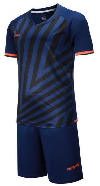 Детская футбольная форма Europaw (темно-сине-оранжевая) 016