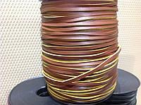 Шнур кожаный, цв. коричневый