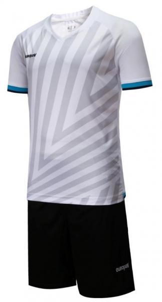 Футбольная форма Europaw (бело-черная) 016