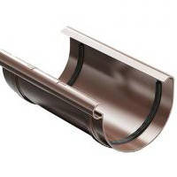 Соединитель жёлоба ProAqua 125 мм., коричневый
