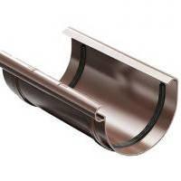 З'єднувач жолоба ProAqua 125 мм, коричневий