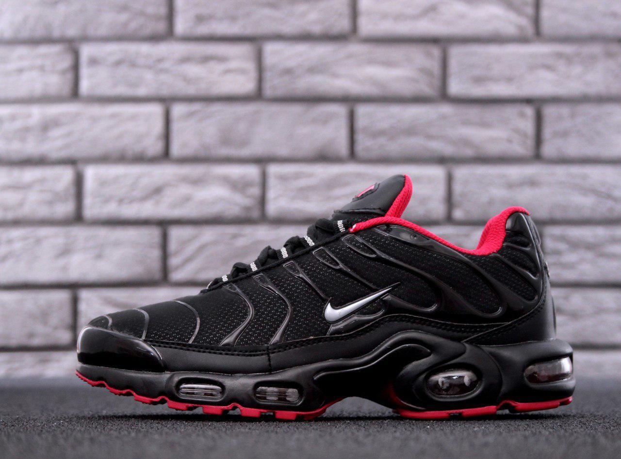 ca3cf3dc Кроссовки мужские Nike Air Max TN Plus Black/Red/Silver