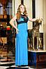 """Платье """"Кассандра""""-голубая бирюза (без шлейфа) ТМ Лузана"""