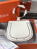 Еллегантная женская сумочка CHLOÉ Nile белая (реплика), фото 1