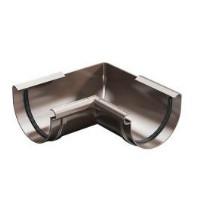 Угол  внутренний 90° жёлоба ProAqua 125 мм., коричневый