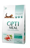 Optimeal 4 кг- корм для котят с курицей