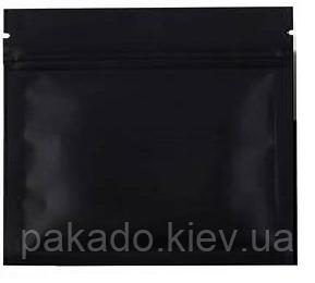 Пакет Саше ЧЕРНЫЙ 160х120 zip-замок, насечки (для табака)