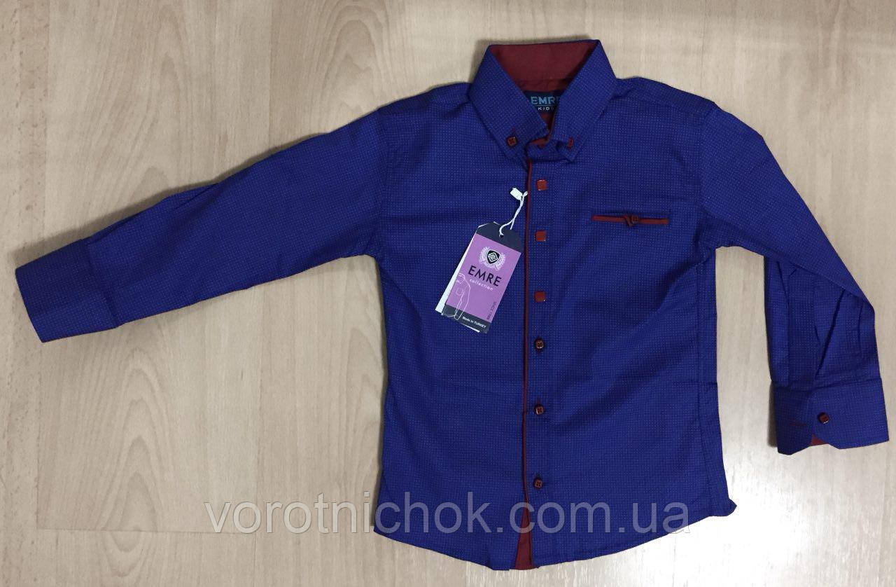 Детская рубашка для мальчиков 2- 6 лет