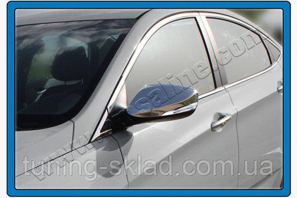 Хром накладки на зеркала без повторителя  Hyundai Elantra 2011-2015  (Хюндай Элантра)