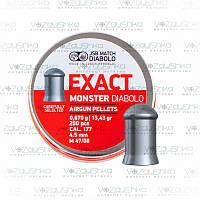 Пули JSB Diabolo Exact Monster 0,87 г 4,52 мм 200 шт/уп