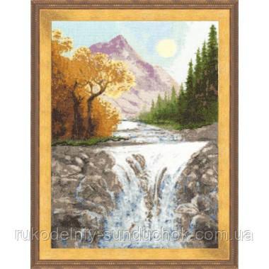 """Набор для вышивания крестом ТМ Золотое Руно """"Осень в горах. Времена года """" ВМ-013"""
