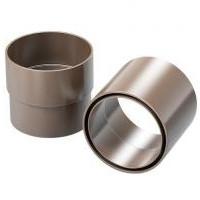 Муфта водосточной трубы ProAqua Д=90 мм, цвет коричневый