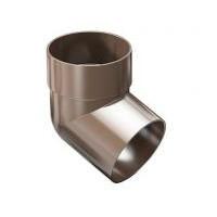 Колено 67,5° сливное водосточной трубы ProAqua Д=90 мм, цвет коричневый