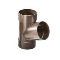 Тройник 67,5° с водосточной трубы ProAqua Д=90 мм, цвет коричневый