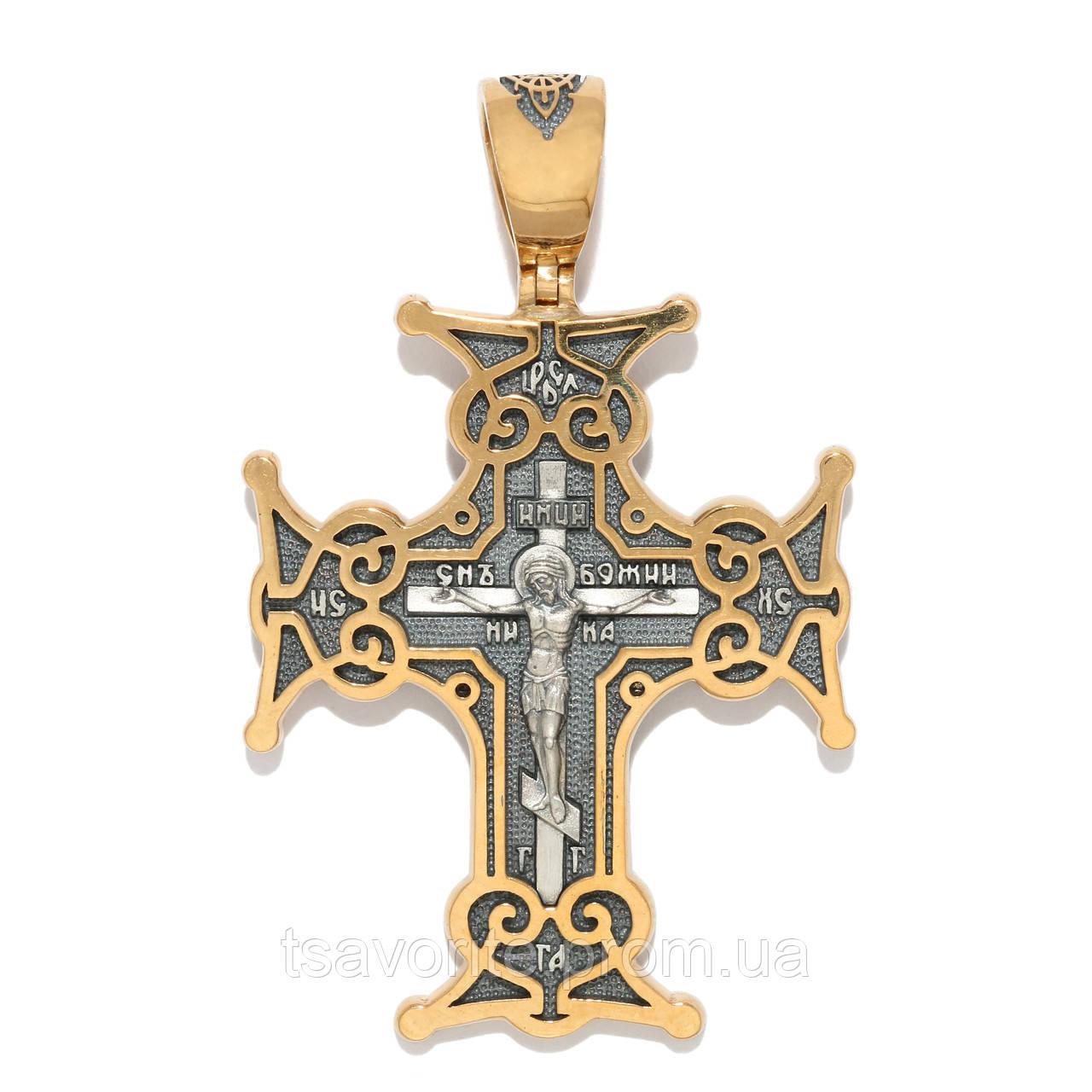 Серебряный крестик 3560-ЗЧ
