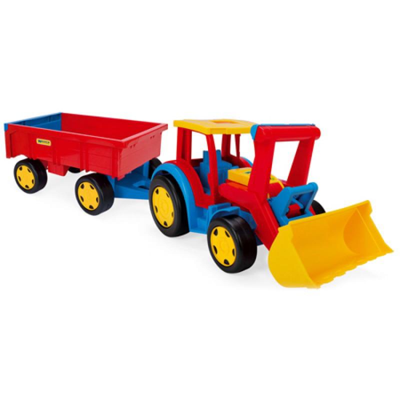 Великий іграшковий трактор Гігант з причепом і ковшем (66300)