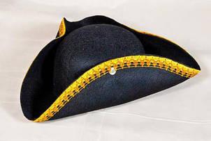 Шляпа Треуголка фетр детская