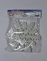 Снежинка белая маленькая 5x5см новогодняя игрушка