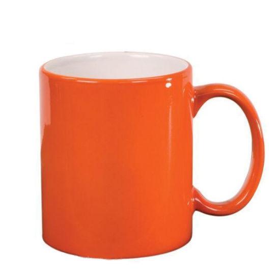 Чашка для сублимации хамелеон ГЛЯНЕЦ 330 мл (оранжевый)