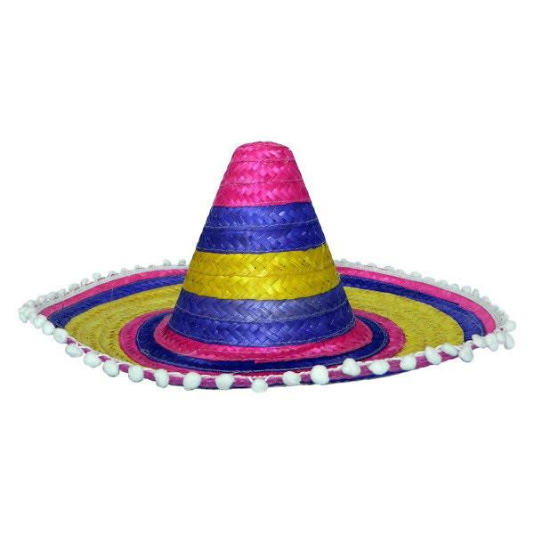 Шляпа Сомбреро цветная 55см