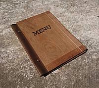 Папка меню из дерева (А5), фото 1