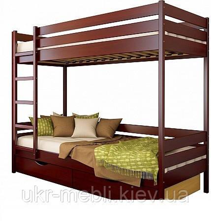 Двухъярусная кровать из массива дерева Милан