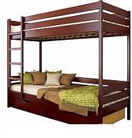Двох'ярусне ліжко з масиву дерева Мілан