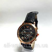 Часы кварцевые мужские  в стиле Armani на  ремешке  Quar 045-02z