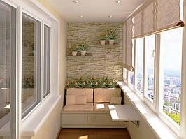 Остекление балконов лоджий Рехау Rehau  70 с монтажом и доставкой