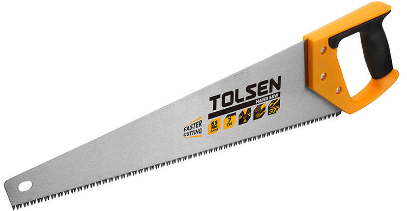 Ножовка по дереву Tolsen 450 мм 7 з/д, фото 2
