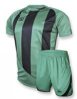 Футбольная форма Europaw (зелено-черная) 001, фото 1