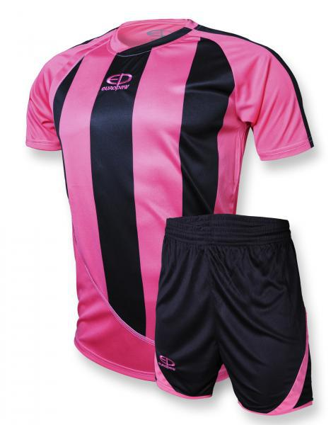 Футбольная форма Europaw (розово-черная) 001 (S-XS)