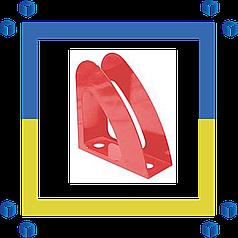 """Лоток для бумаг вертикальный """"Радуга"""" Economix ,пластик.красный"""