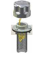 Фильтр-сапун с заливной горловиной TA80B10A0L2P01  с ушками для замка  MPFiltri Цена указана с НДС
