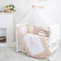 Комплект детского постельного белья Акварель Зайки., фото 1