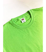 Мужская футболка классическая Fruit of the Loom  Valuweight T 61-036-0 Fruit of the Loom, S(46), Марокко, Лайм