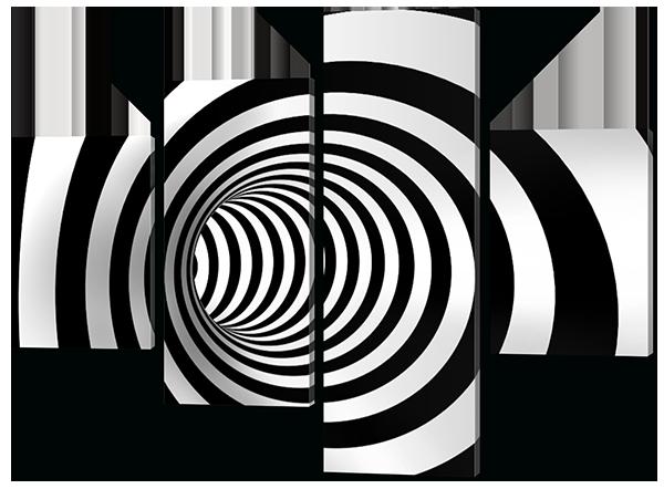 Модульная картина Абстракция Водоворот