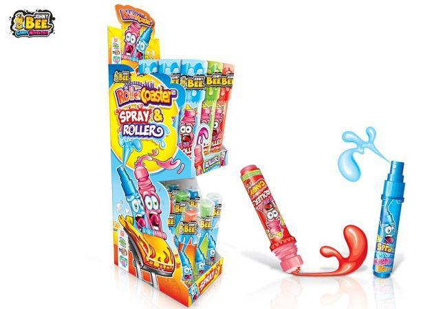 Конфета спрей и роликовая конфета X-TREME® Roller Coaster Spray & Roller