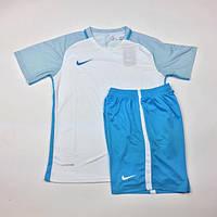 Футбольная форма Replica Nike (бело-голубая)