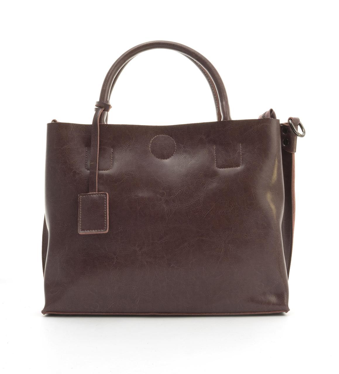 Суперстильная вместительная кожана прочная женская сумка CELINE art. 205-1 сиреневая