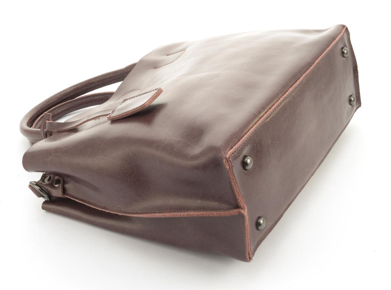 3925f39fc120 205-1 сиреневая, фото 4 Суперстильная вместительная кожана прочная женская  сумка CELINE art.