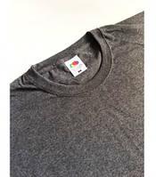 Мужская футболка классическая Fruit of the Loom  Valuweight T 61-036-0 Fruit of the Loom, L(50-52), Марокко, Тёмно-серый ретро
