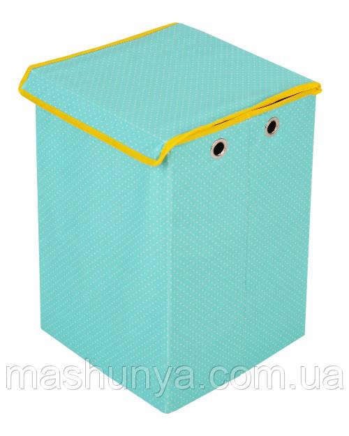 Ящик для игрушек хлопок Горошек Українська оселя 30*31*45 см