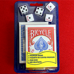 Набор 2 Bicycle Standard Poker and 5 Dice Set
