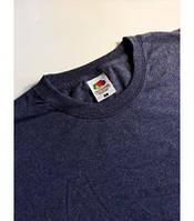 Мужская футболка классическая Fruit of the Loom  Valuweight T 61-036-0 Fruit of the Loom, S(46), Марокко, Тёмно-синий ретро