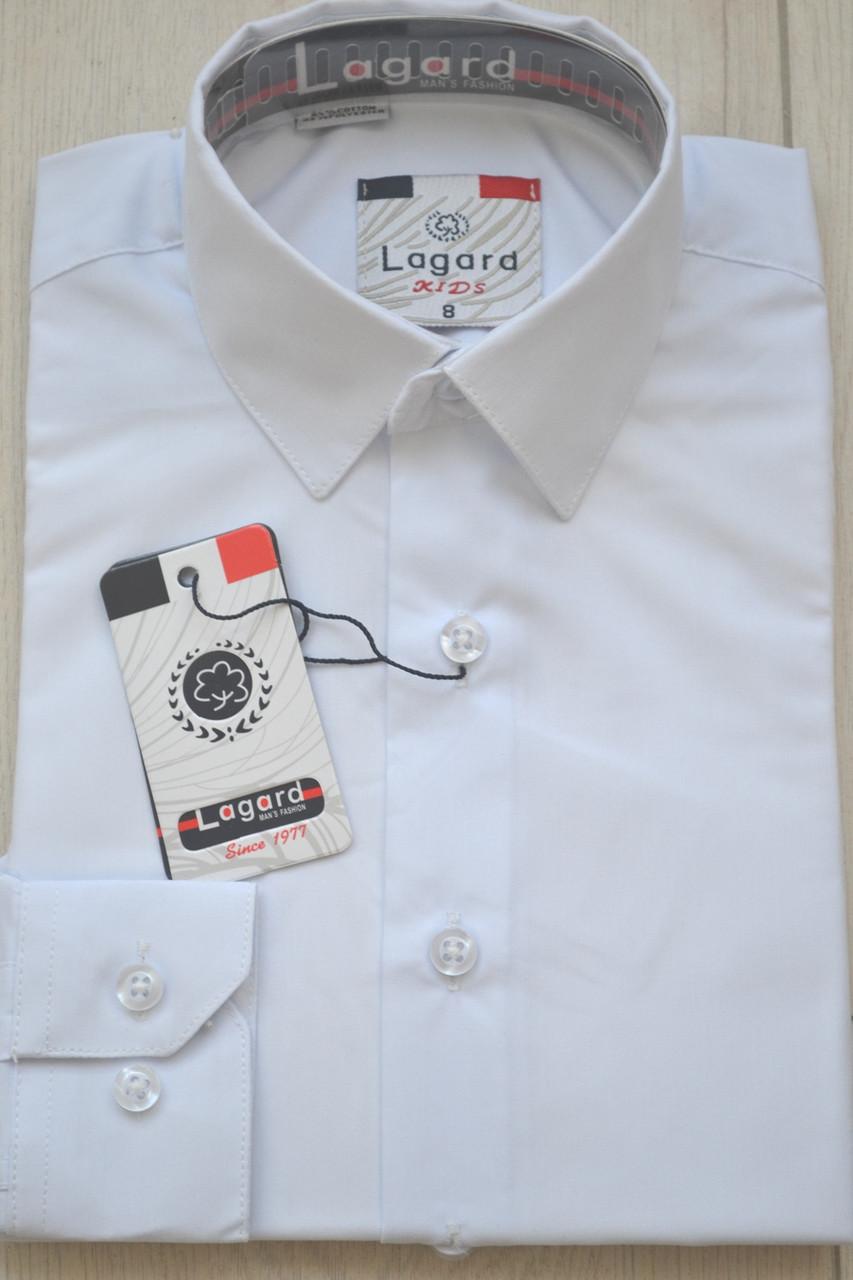 Детская белая приталенная рубашка LAGARD (размеры  26,10,14 + под заказ)